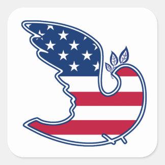 Peace Dove. US Patriotic Design Stickers