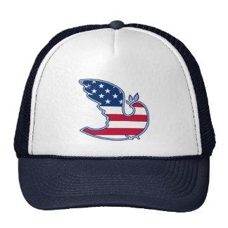 Peace Dove. USA Patriotic Design Hat Trucker Hat
