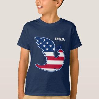 Peace Dove. USA Patriotic design T-Shirts