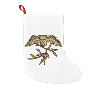 Peace Dove Vintage Small Christmas Stocking