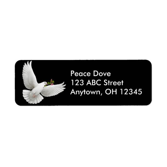 Peace Dove with Olive Branch Label