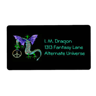 Peace Dragon Shipping Label