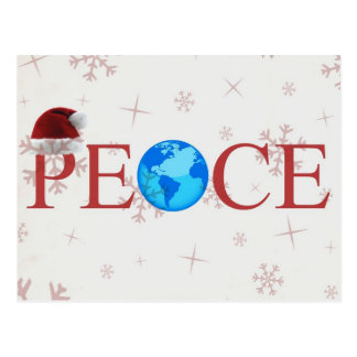 Peace Earth Christmas Postcard
