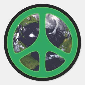 Peace Earth Classic Round Sticker