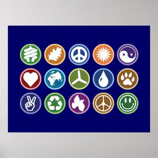 Peace / Eco Symbols Posters