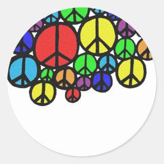 Peace Everywhere Round Stickers
