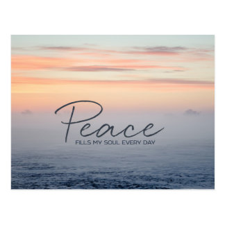 Peace Fills My Soul Postcard