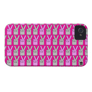 Peace Finger Sign Pink Blackberry Bold Case
