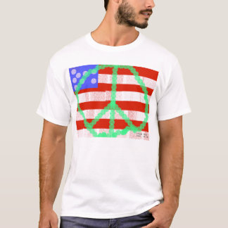 Peace Flag by Frank Moore T-Shirt
