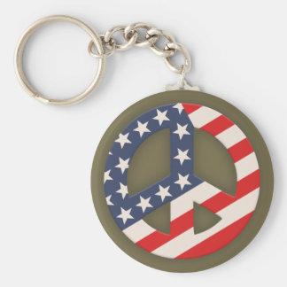 Peace Flag -Diag Key Chains