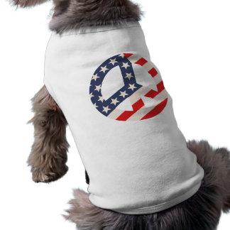 Peace Flag -Diag Sleeveless Dog Shirt