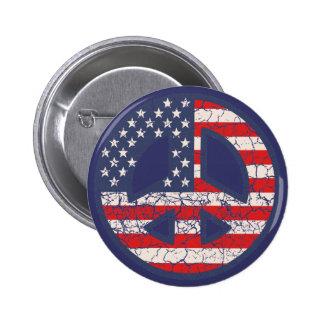Peace-Flag-dist 6 Cm Round Badge