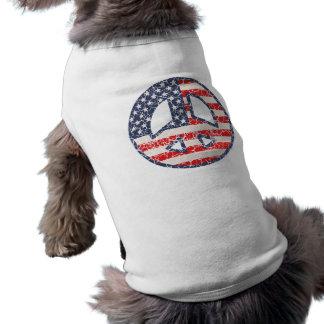 Peace-Flag-dist Pet T Shirt