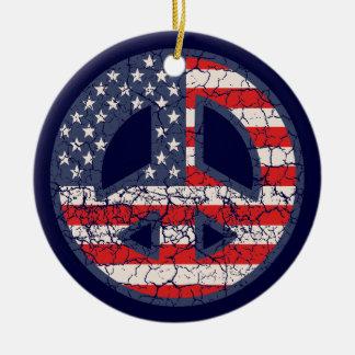 Peace-Flag-dist Round Ceramic Decoration