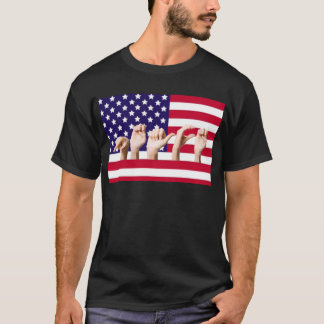 Peace Flag in ASL T-Shirt