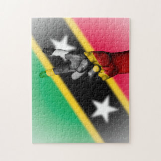 Peace Flag of Saint Kitts. Jigsaw Puzzle