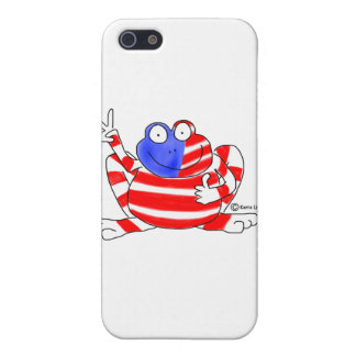 Peace Flag USA Frog 4th of July Patriotic Cute Cover For iPhone 5/5S