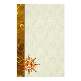 Peace Flame Spiral Customised Stationery