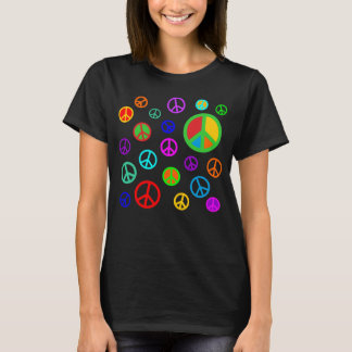 PEACE - Flat pattern multicolored + your backgr. T-Shirt