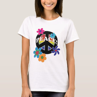 Peace Floral Peace Rainbow T-Shirt