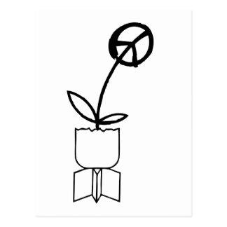 Peace Flower from War Bombs Postcard