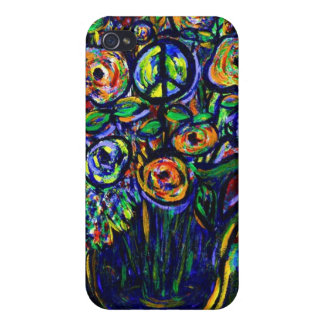 Peace Flower iphone 4 case