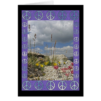 Peace Flowers Card