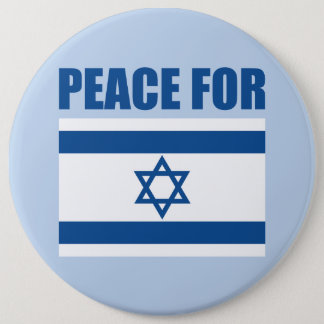 Peace for Israel 6 Cm Round Badge