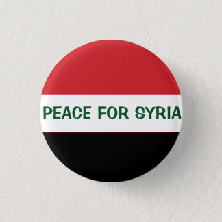 PEACE FOR SYRIA 3 CM ROUND BADGE