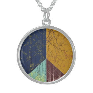 Peace Forest Silver Necklace