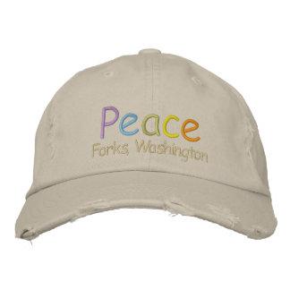 Peace Forks, Washington Hat Embroidered Baseball Cap