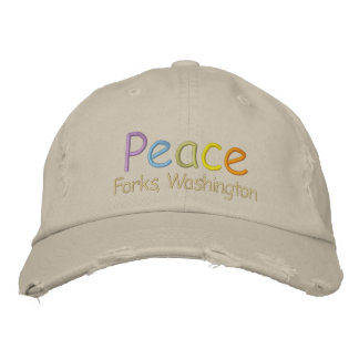 Peace Forks, Washington Hat Embroidered Hats