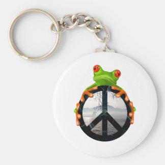peace frog1 keychain