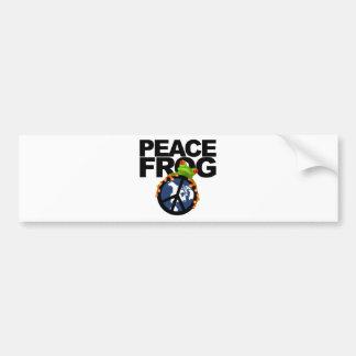 peace frog-2 bumper sticker