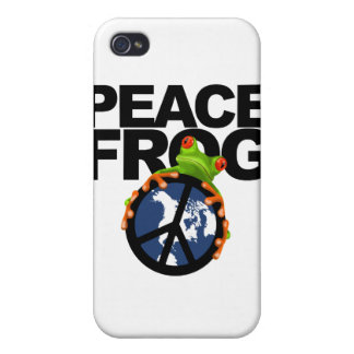 Peace, Frog-2 Case For iPhone 4