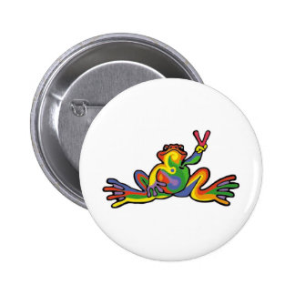 Peace Frog 6 Cm Round Badge