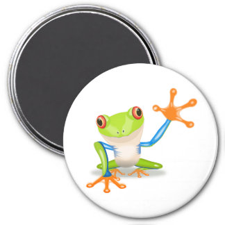 """Peace Frog"" 7.5 Cm Round Magnet"