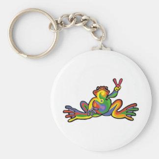 Peace Frog Key Ring