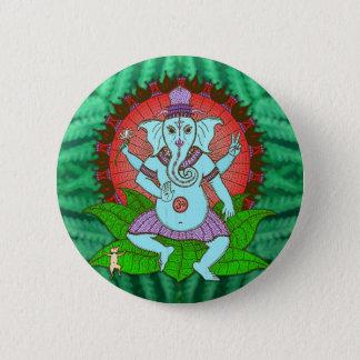 Peace Ganesh Dancing 6 Cm Round Badge