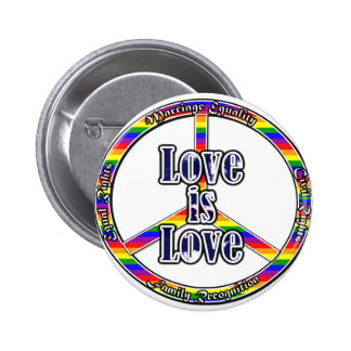 Peace Gay Rights 6 Cm Round Badge