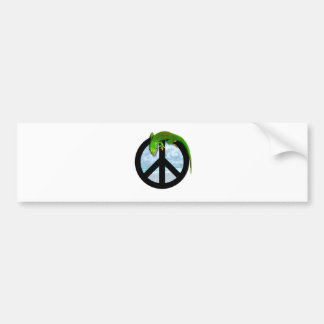 PEACE GECKO BUMPER STICKER