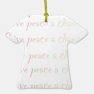 Peace, give peace a chance christmas ornaments