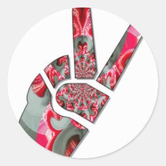 Peace Hakuna Matata love all to save all amazing p Round Sticker