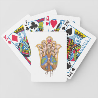 peace_hamsa bicycle playing cards