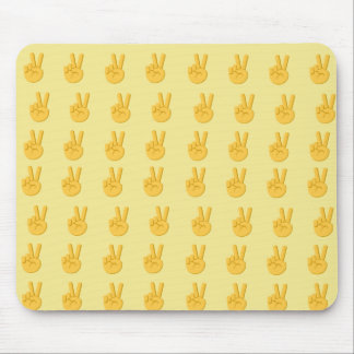 Peace Hand Sign Emoji Mouse Pad
