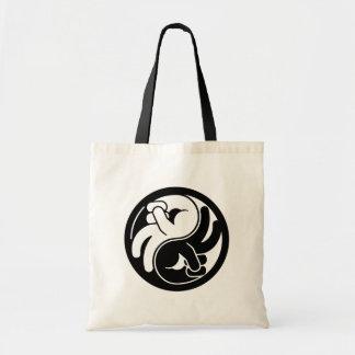 Peace Hand Yin Yang Tote Bag