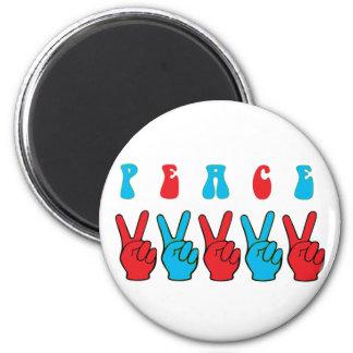 Peace Hands Fridge Magnets