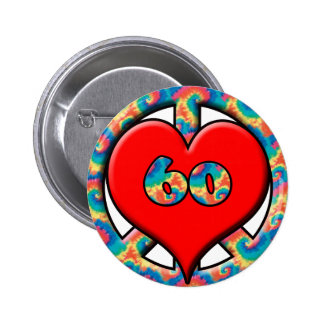 Peace, Heart, 60 6 Cm Round Badge