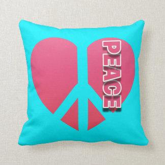 """Peace Heart"" Polyester Throw Pillow, 16"" x 16"" Cushion"