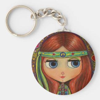 Peace Hippie Doll Keychain